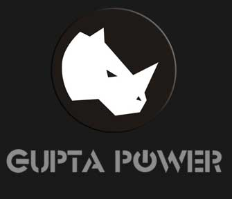 Gupta Power Reverse Logo